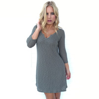 Organic Chemistry Ribbed Dress In Olive