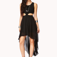 High-Low Chiffon Cutout Dress