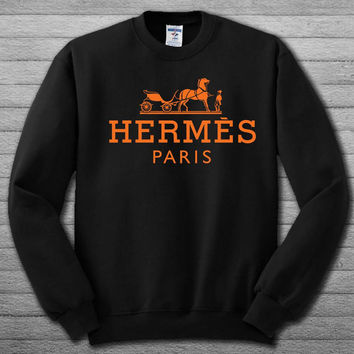 hermes paris logo Sweatshirt # For Women , Men  Sweatshirt