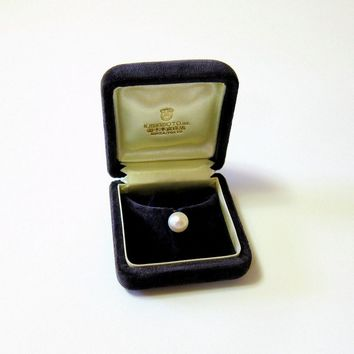 14KT Mikimoto Saltwater Akoya Pearl Stud - Tie Tack with Original Case