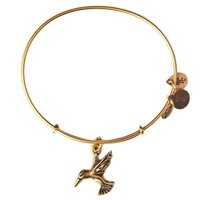 Alex and Ani Hummingbird Charm Bangle Bracelet - Rafaelian Gold Finish