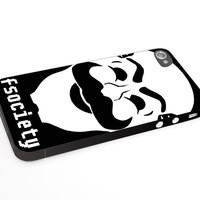 Heru - Mr Robot Fsociety Hacker Logo for Iphone 4 4s 5 5s 5c 6 6plus Case (iphone 4/4s black)