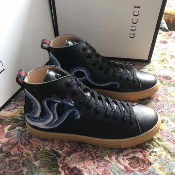 gucci fashion casual shoes snake  number 1