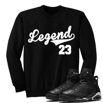 LEGEND(SWEATER)-Jordan BLACK CAT 6's Sneaker Match T-Shirt Tees, Nike Retro