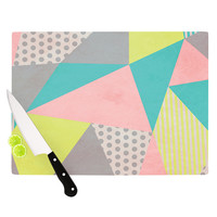 "Louise Machado ""Geometric Pastel"" Cutting Board"