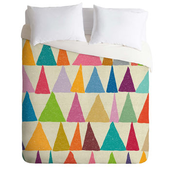 Nick Nelson Analogous Shapes In Bloom Duvet Cover
