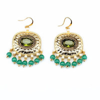 Envidia Green Earrings
