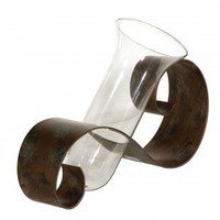 Uttermost Contemporary Curl Vase in Antiqued Mahogany - 19516 - Vases - Decorative Accents - Decor