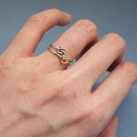 knot ring,eternity ring,sister tiny knot ring, infinity jewelry, friendship gift Z016