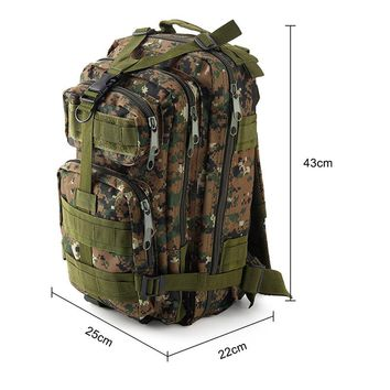 Unisex Waterproof Nylon Backpacks Army Military Tactical Large Capacity Rucksack 30L Outdoor Travel Camping Hiking Survival Bag
