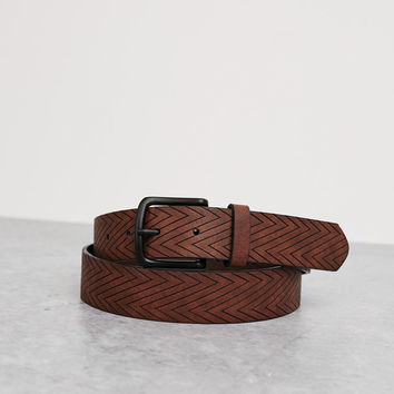 Geometric embossed belt - Accessories - Bershka Germany
