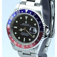 Rolex Popular Women Men Red Blue Quartz Watches Couple Movement Wristwatch I