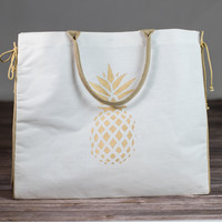 Pineapple Glamour Juco Shopper Bag