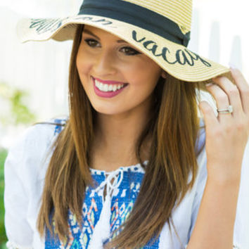 Always On Vacay Hat, Natural