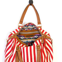 World's Fair Duffel Bag: Red - $44.99 : Spotted Moth, Chic and sweet clothing and accessories for women