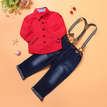 2018 Boys Clothes T-shirt+Pant 2pcs Outfit