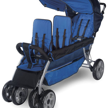 Foundations 3-Child Stroller LX3 Regatta Blue - 4130037
