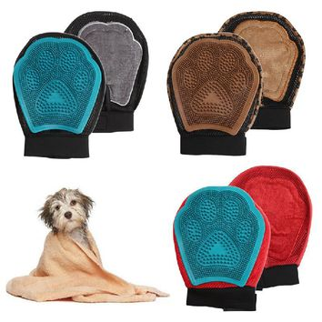 TPR Pet Dog Cat Grooming Groom Glove Puppy Bath Mitt Brush Comb Dog Cleaning Massage Warm's house