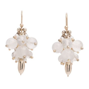 Ted Muehling 18K Moonstone Mix Bug Cluster Earrings