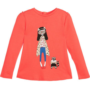 Little Marc Jacobs Baby Girls Red 'Miss Marc' Top