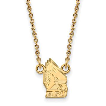 NCAA 10k Yellow Gold Ball State Small Pendant Necklace