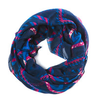 Tribal Print Navy Scarf