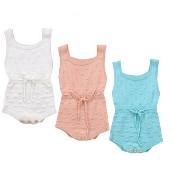Winter Autumn Warm Newborn Baby Boy Girl Clothes Sleeveless Knit Romper Jumpsuit Vest Overall Knitted Outfits Baby Clothes