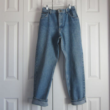 Vintage Mom Jeans, High Waisted Jeans, Womens Size 10 Wrangler High Waist 30 , Hipster 90s Grunge Denim Jeans  Boyfriend