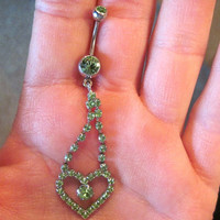 Piercing Navel Belly Button Ring Upcycled Naval Body 2 of a Kind Last One