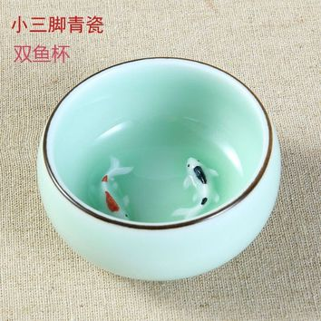Ceramic Kung Fu Tea Cup Earthenware Tea Cup Pottery and Porcelain Tea Cup