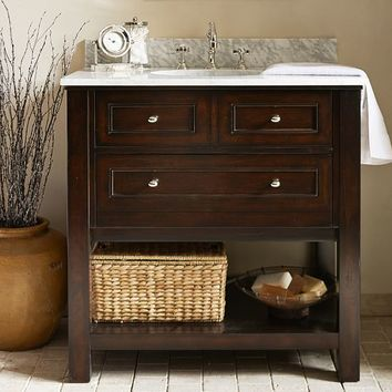 Classic Single Sink Console - Espresso finish