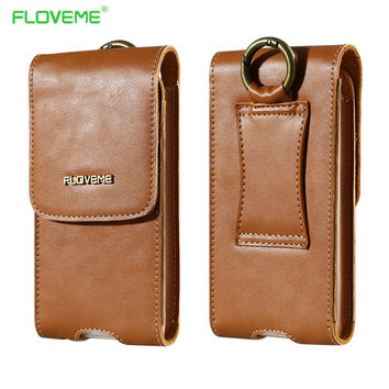 FLOVEME Genuine Leather Phone Bag Purse Wallet Case Pouch For Samsung Galaxy S7Edge S6 Edge For iPhone 7 7Plus 6 6S 5S Universal