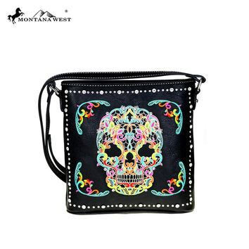 Montana West Sugar Skull Collection Crossbody Bag