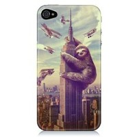 Sharp Shirter Slothzilla iPhone 4 & 4S Case