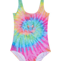 TIE DYE BODYSUIT SWIMSUIT SUMMER PRINT BIKINI GRUNGE – Minga London