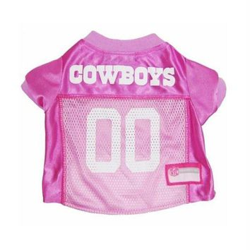DCCKT9W Dallas Cowboys Pink Dog Jersey