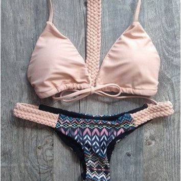 SUMMER SALE! Coral Braided Bikini (Swim Suit)