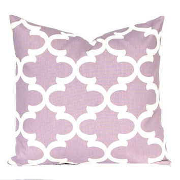 Lilac Pillow Covers, Purple Pillows, Moroccan Tile Pillow Cover, Purple Cushion Covers, Accent Pillow, Bed Pillows, Mauve Pillows