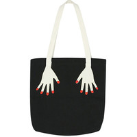 Canvas Tote Bag with Hand Print