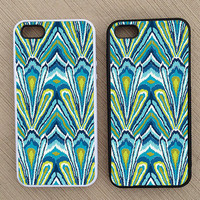 Cute Abstract Peacock Pattern iPhone Case, iPhone 5 Case, iPhone 4S Case, iPhone 4 Case - SKU: 208
