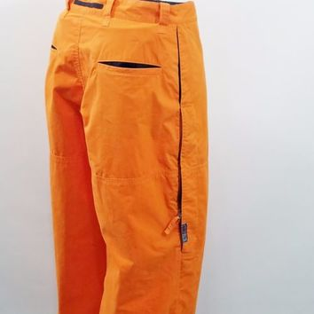 VTG Polo Jeans Co Ralph Lauren Orange Uniform Cargo Pants Sz 32 x 29 Rave Wear
