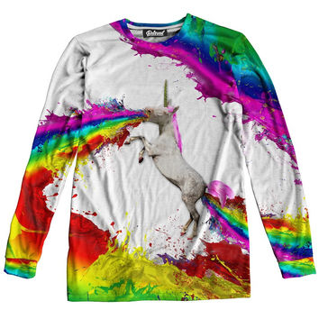 Unicorn Spew Long Sleeve Tee