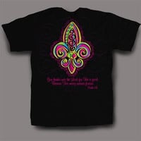 Sweet Thing Funny Fleur De Lis Black Girly Bright T-Shirt