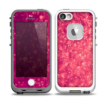 The Unfocused Pink Glimmer Skin for the iPhone 5-5s fre LifeProof Case