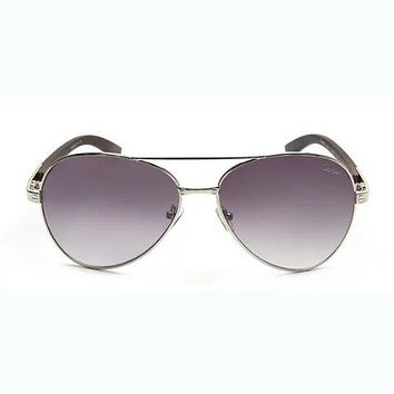 Cartier wood leg metal foreign trade sunglasses leopard head with the same paragraph yurt mirror F-AJIN-BCYJSH  F