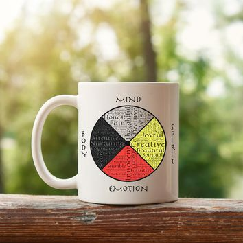 Native American Indian Four Directions Coffee Mugs Cups