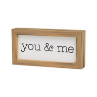 You & Me - Framed Box Sign 8-in