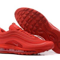 PEAPONVX Jacklish All Red Nike Air Max 97 Hyperfuse Gym Red For Sale
