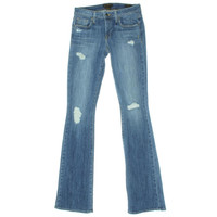 Genetic Denim Womens Riley Destroyed Low-Rise Slim Bootcut Jeans