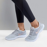 Nike Running Flex Contact Sneakers In Grey And Metallic at asos.com